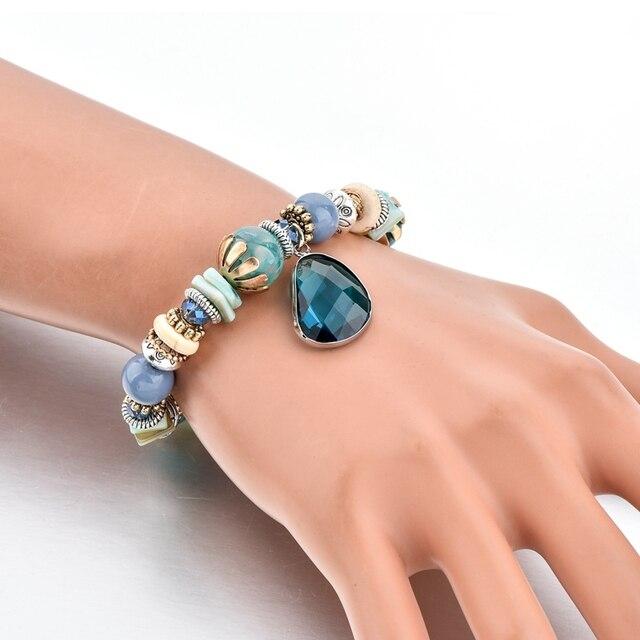 Фото chicvie голубые браслеты из нержавеющей стали для самостоятельного
