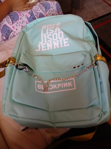 Kopo BlackPink Rose Lisa JENNIE USB Backpack School Bags Black Pink Mochila Travel Bags Laptop Chain Backpack Headphone USB Port photo review