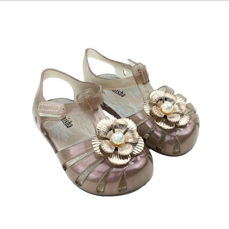 New Girl Shoes Flower Fantasy Colorful Jelly Shoes Cute ...
