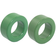 UXCELL 2 Pieces Green Iron Toroid Ferrite Core 1.2 X 0.7 X 0.5 ee transformer ferrite magnetic core 12 pins plastic bobbin