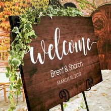 Rustic Welcome Sign Wedding Rustic Wood Wedding Sign Welcome Wedding Signs Custom Wedding Signs Stand Not Included(China)