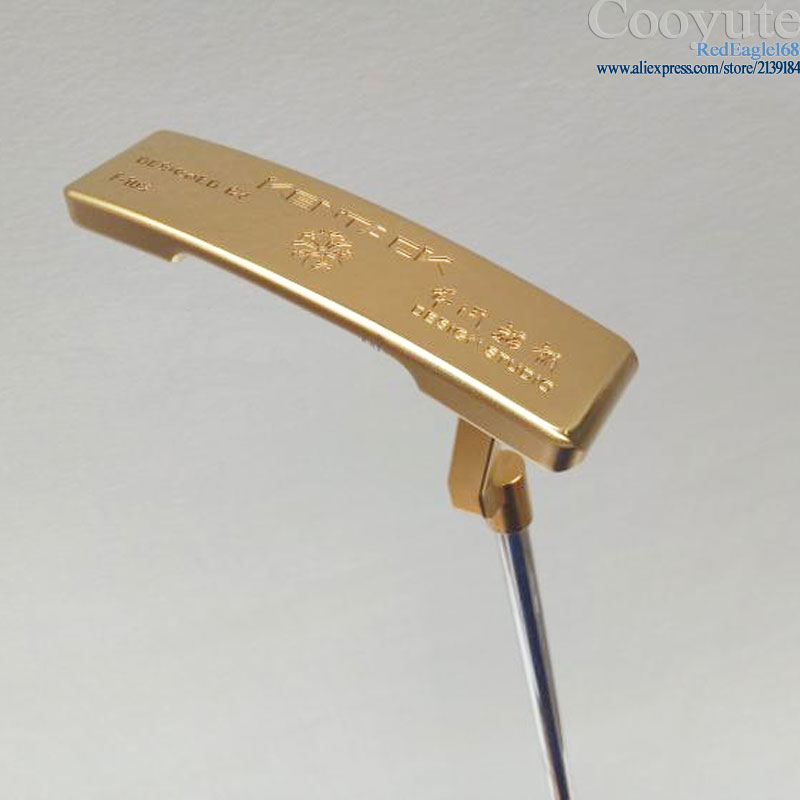 New Mens Golf Clubs Cooyute KENTACK  Gold Color Golf Putter And N.S.PRO 950 Steel Golf Shaft Clubs Putter Free Shipping