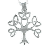Necklace Pendant family trees life Silver bright and with design trimmed. Includes Chain de 45 cm and Case for Gift