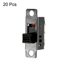 UXCELL 20PCS Switches 6-Pin 3 Position DPDT Panel Mount Slide Switch DC 50V 0.5A High Performance Miniature Two-position Switch