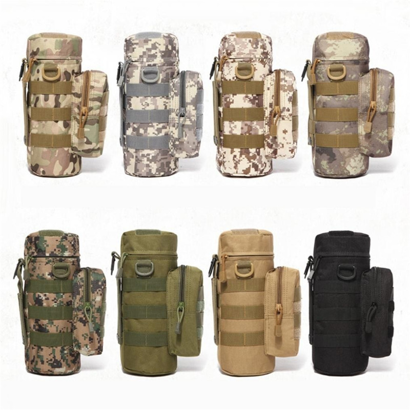 Outdoor Molle Water Bottle Pouch Open Top Waist Kettle Bag Holster Tactical Army
