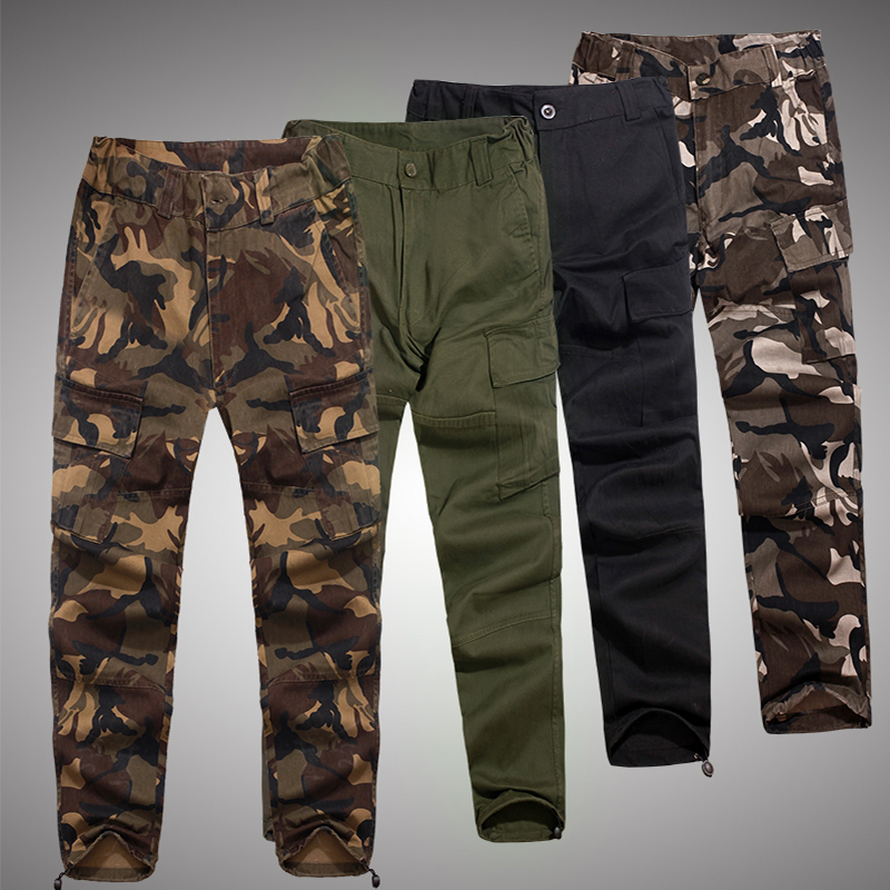 Mens Autumn Tactical Pants Camouflage Loose Harem Pant Casual Army Military Style Overalls Man Combat Airsoft Paintball Trousers