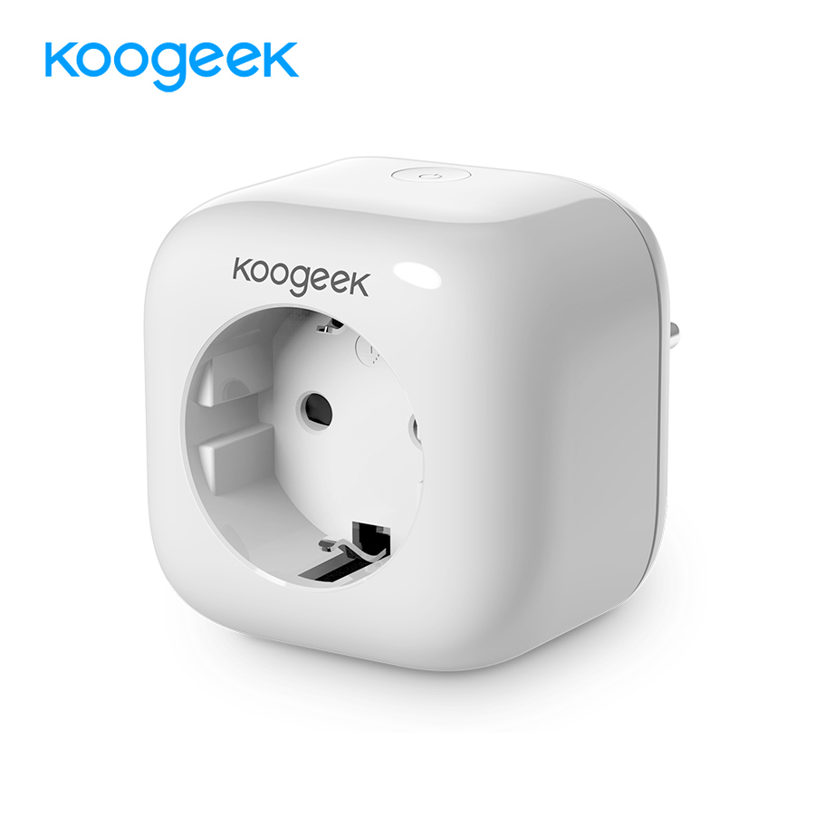 Koogeek Smart Power Socket Home WiFi Plug for Apple HomeKit Siri Alexa Google Home Automation WiFi Enabled Smart Plug AC250V wall socket home security alexa compatible surge protection zigbee home automation solution smart metering plug