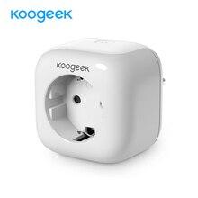Koogeek Smart Мощность разъем домашний Wi-Fi Разъем для Apple HomeKit Siri Alexa Google домашней автоматизации Wi-Fi с Поддержкой Smart Plug AC250V
