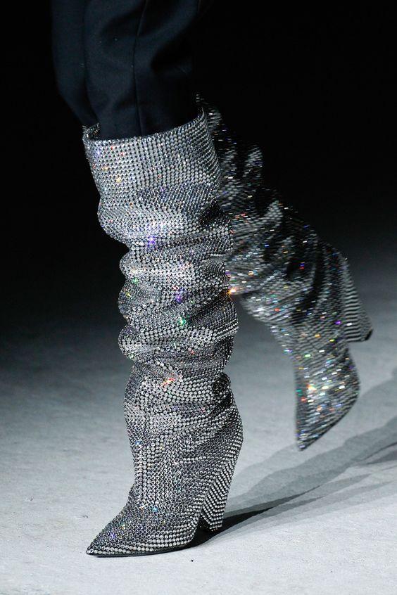 Silver Kristall Bling Sexy black High Spitz Knie Sxzyqfw Luxus Runway Heel Lange Frau Stiefel Background Für Frauen Strass Background Hohe zEwUdqax