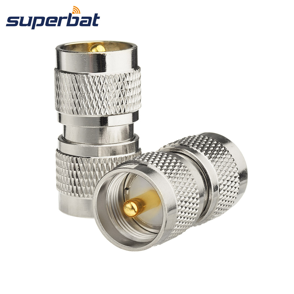 Superbat 2Pack UHF PL-259 Male To UHF PL259 Coax RF Adapter Connector For CB Mobile Radio