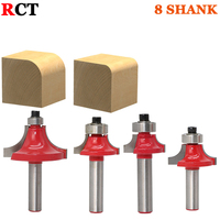 4pcs Set High Quality Roundover Bit With Bearing 8mm Shank Dovetail Router Bit Cutter Wood Working