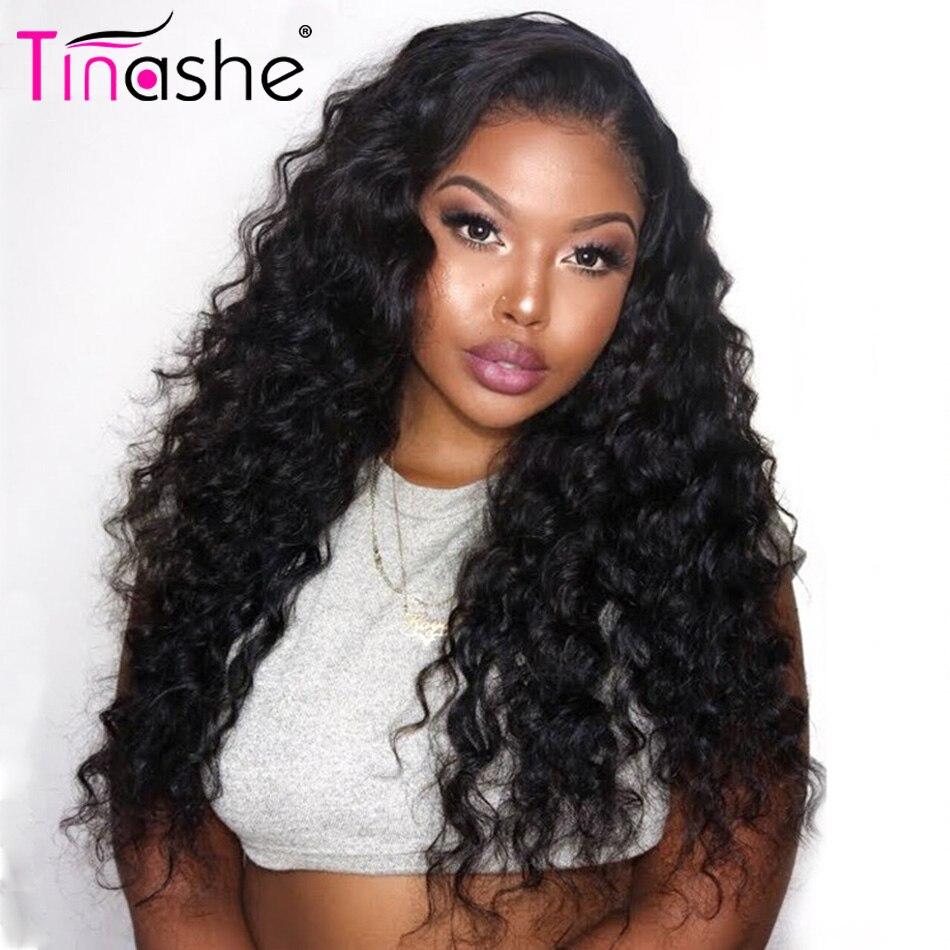 Tinashe włosy kręcone ludzkie włosy peruka luźne głęboka koronkowa fala peruka Front 360 czołowa koronki peruka 180 250 gęstość koronki przodu włosów ludzkich peruk