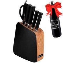 Набор ножей Rondell Balestra 5 предметов RD-484 (4 ножа, ножницы, немецкая нержавеющая сталь, деревянная подставка, термос в подарок)