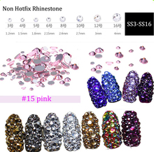 L.Rose Glass Rhinestones ss3 ss4 ss5 ss6 ss10 ss12 ss16 1440 pcs Non HotFix 3D Nail Art Decorations Flatback Rhineston (No.15) стразы для одежды blingworld rhinestones 1440 4 ss16