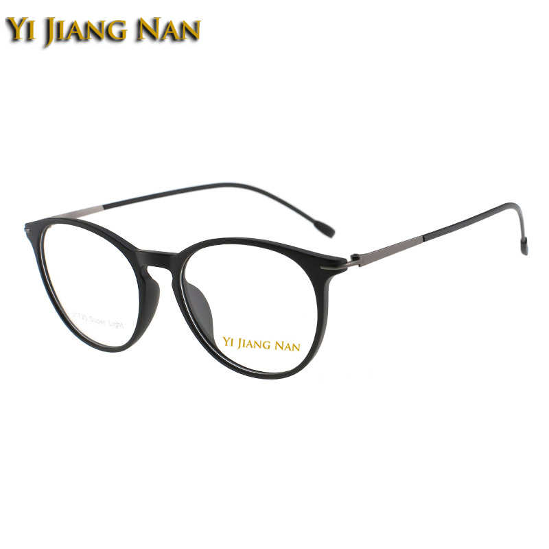 Marca tr 90 ultra leve retro óculos ópticos quadro aro completo óculos prescrição quadro unisex
