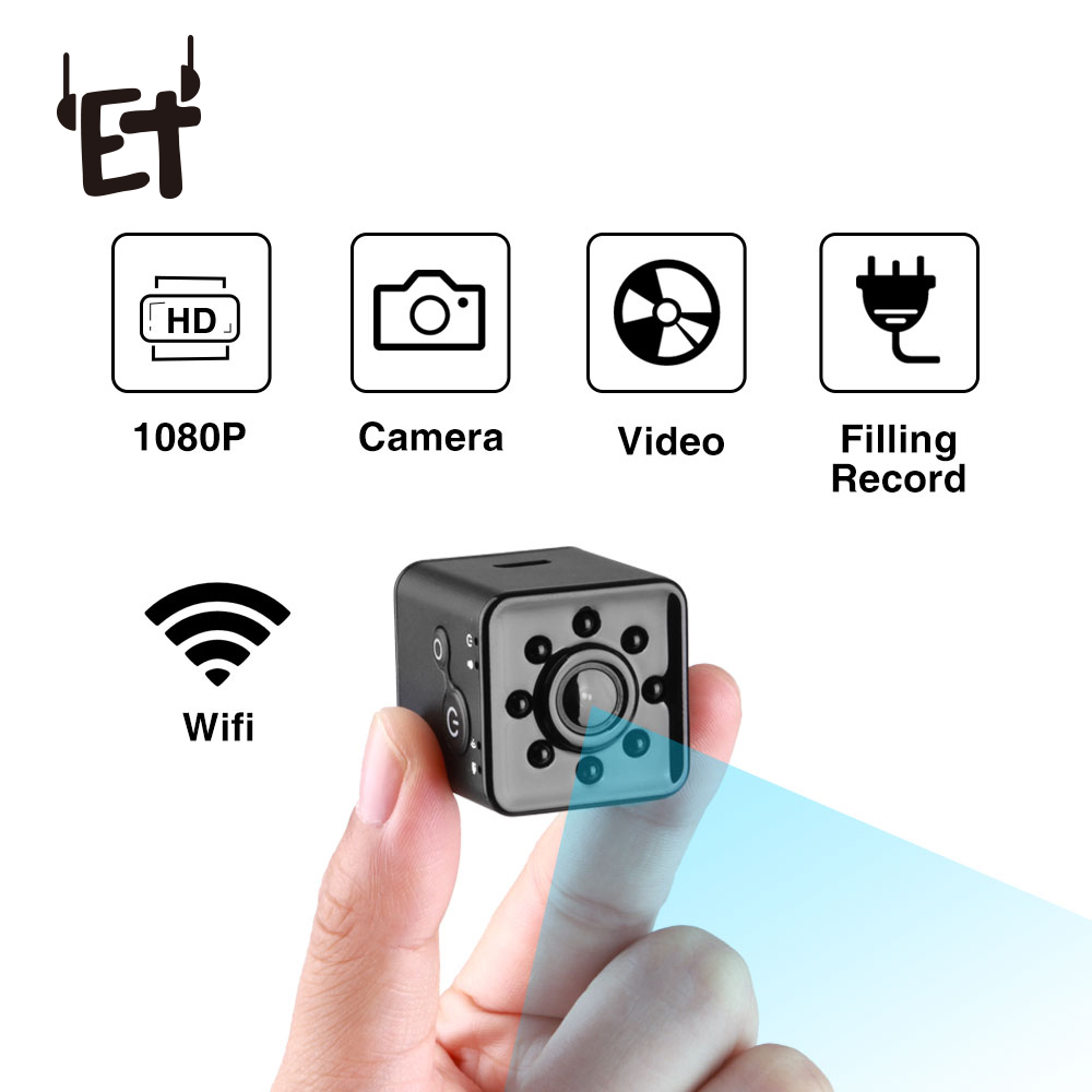 цена на ET SQ13 & SQ12 Mini Wifi Camera HD 1080P Waterproof Video Recorder Digital Camera Night Vision Wide-Angle Sports Cam Camcorder