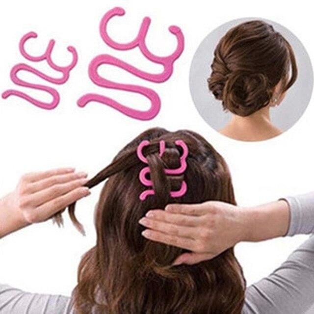 High Quality Headwear Girls Magic Hair Tie Twist Braid Tool Holder Clip Hair  Style Maker Hairpin 2403f1e65ee