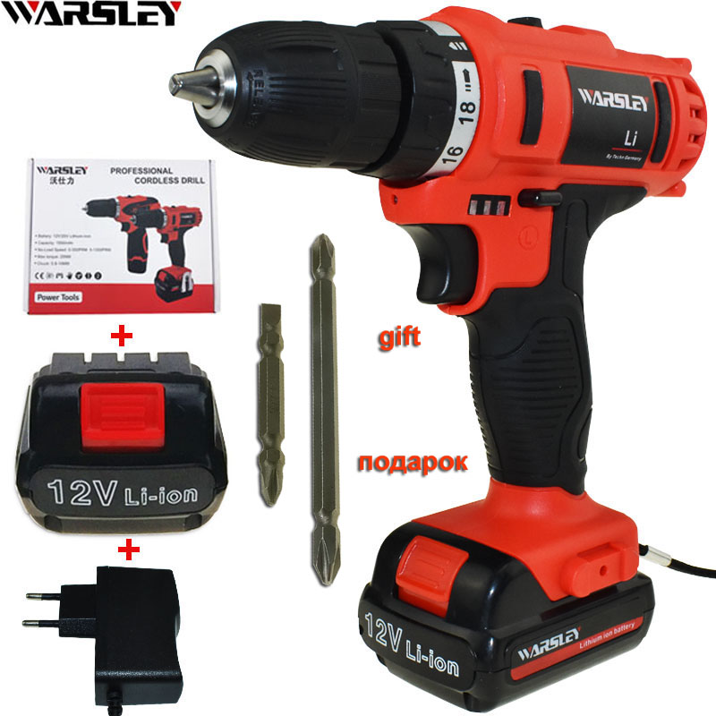 12v Cordless Drill Electric Drill Electric Tools Mini Electric Drilling Eu Plug Battery Drill Electric Screwdriver