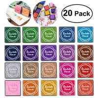 20pcs Multi-colored Giant Ink Pads Stamp Pads for DIY Craft Scrapbooking Finger Paint Ink Pad Set