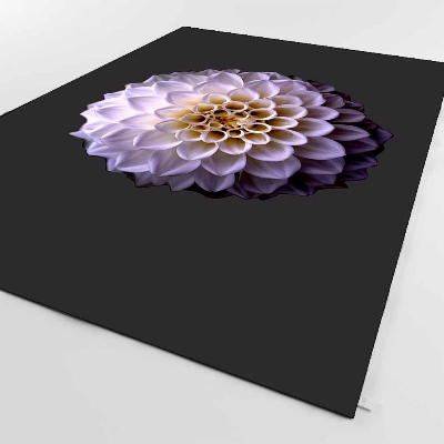 Else Black Floor On Purple Yellow Flower Floral 3d Print Non Slip Microfiber Living Room Decorative Modern Washable Area Rug Mat