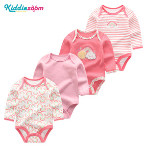 Image 5 - 4PCS Clothing Sets 2019 Unisex Baby Girl Clothes Roupa de bebe Cotton Baby Boy Clothes Full Sleeve Unicorn Newborn Bodysuit