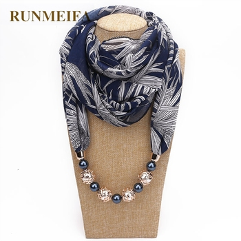 d04975f749e7 RUNMEIFA declaración collar bufanda para mujer PRIMAVERA/otoño musulmán  cabeza bufandas gasa bufanda gargantilla Ropa Accesorios en Stock