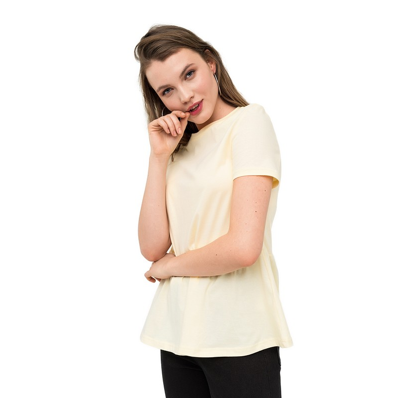 Фото - T Shirts t shirt befree for female cotton shirt short sleeve women clothes apparel  1811534429-9 TmallFS beige striped daily life crew neck short sleeve men s t shirt