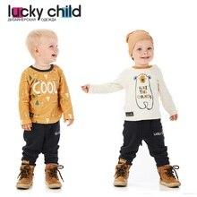 Кофта Lucky Child без начёса для мальчиков, арт. 63-12 (Зимние каникулы) [сделано в России, доставка от 2-х дней]