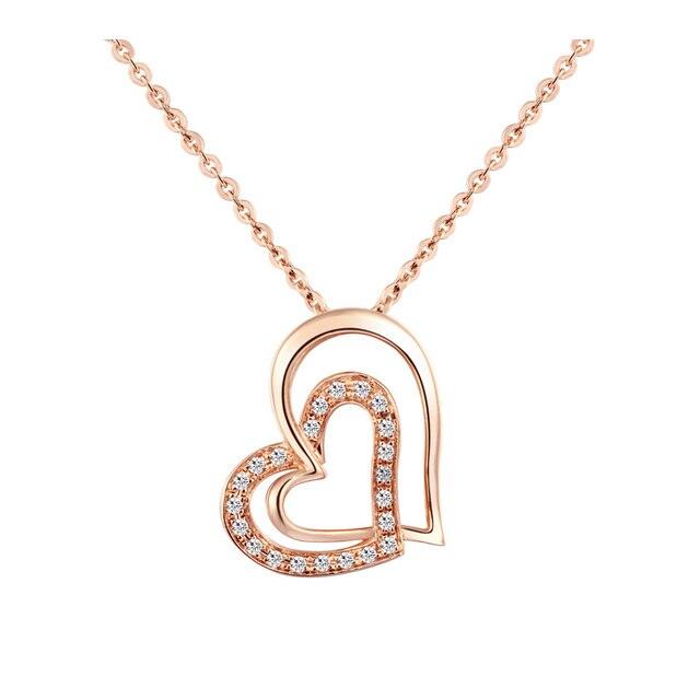 18k gold diamond pendant white gold diamond necklace set custom rose 18k gold diamond pendant white gold diamond necklace set custom rose gold necklace pendant aloadofball Image collections