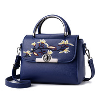 2017 Embroidery Cover Solid Small Tote Bag Women Messenger Shoulder BAGS Female Handbag More Colors Crossbody