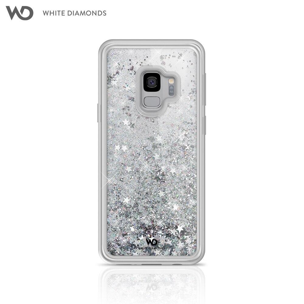 Case White Diamonds Sparkle Silver Stars for Samsung Galaxy S9 color silver gold color silver color multi layers chain necklace