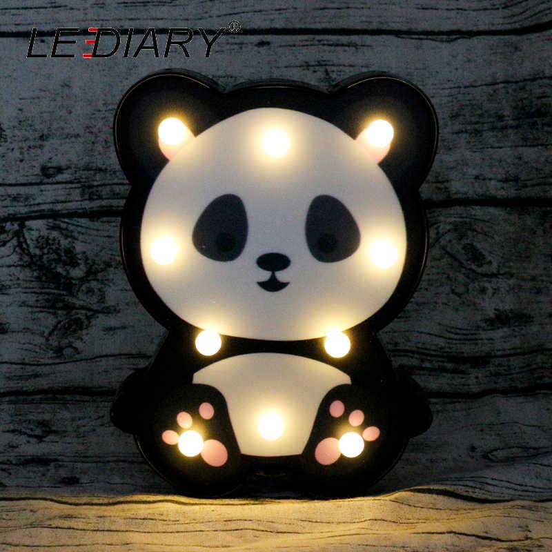 Светодиодный 3D красочный животный светодиодный ночник Милая панда Лев енот форма прикроватная Настольная лампа для детские игрушки подарок на день