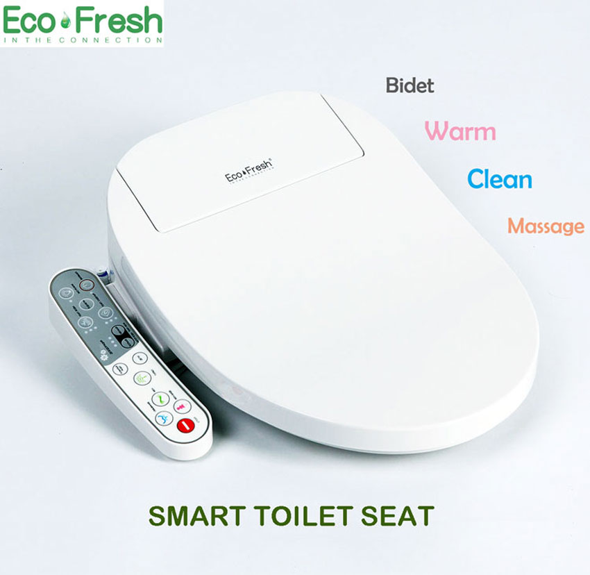 EcoFresh Smart toilet seat Washlet Electric Bidet cover intelligent bidet heat clean drying Massage care for child woman the old kitbwkk5000rcp750411 value kit rubbermaid autofoam touch free skin care system rcp750411 and boardwalk premium half fold toilet seat covers bwkk5000