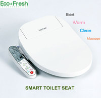 EcoFresh Smart Toilet Seat Washlet Electric Bidet Cover Intelligent Bidet Heat Clean Drying Massage Care For