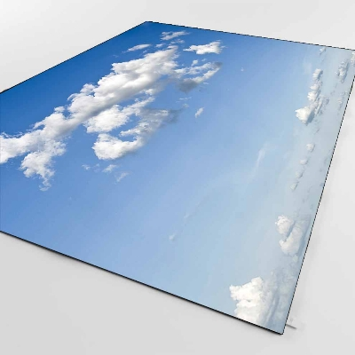 Else Blue Sky White Clouds Nature 3d Print Non Slip Microfiber Living Room Decorative Modern Washable Area Rug Mat