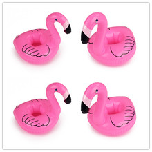 4pcs Float Flamingo Cup holder Coasters Inflatable Drink Holder For Swimming Pool Hawaiian Luaus Party Beach Wedding Decoration
