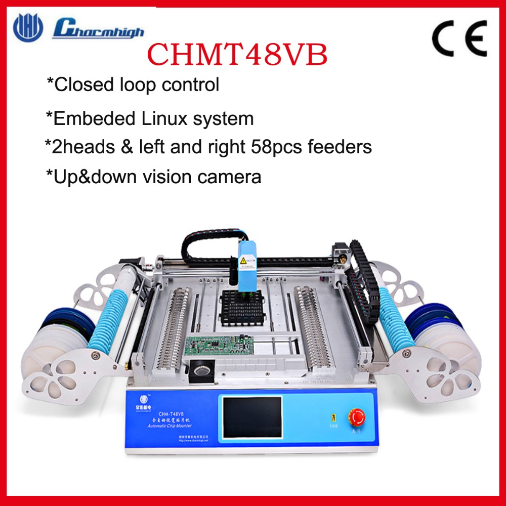 Desktop SMT Pick And Place Machine CHMT48VB, 58pcs Feeders , Closed Loop Control , With Linux System , 220V/110V