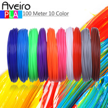 100 Meter Different 10 Color 3D Printer Materials PLA Filament Set 3D Pens Plastic For Kids 3 D drawing Toys