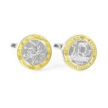 Французская монета Запонки франков 10 запонки на День отца запонки на подарок на день рождения подарки запонки