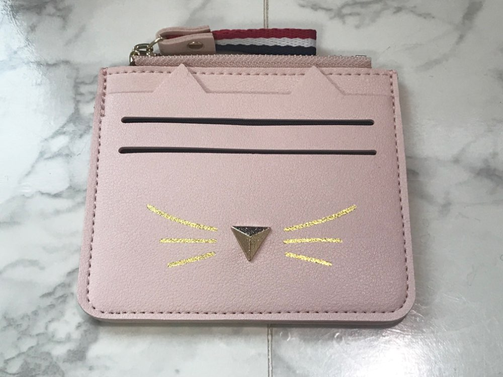 2019 New Fashion Women Coin Purses Card Holder Wallet Mini Credit Card Holders For Female Lovely Cat Ear Cash Card Purse Holder photo review