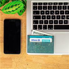 Z naturalnego korka slim portfel dla mężczyzn wegański posiadacz karty ręcznie na co dzień drewniane portfel ekologiczny Eco z portugalii BAG-254-ABCDE tanie tanio Drewna Mężczyźni Stałe Nie zamek Mini portfele Krótki 0 5cm 10 3cm 6 8cm Cork Poliester Wnętrza przedziału Mb cork