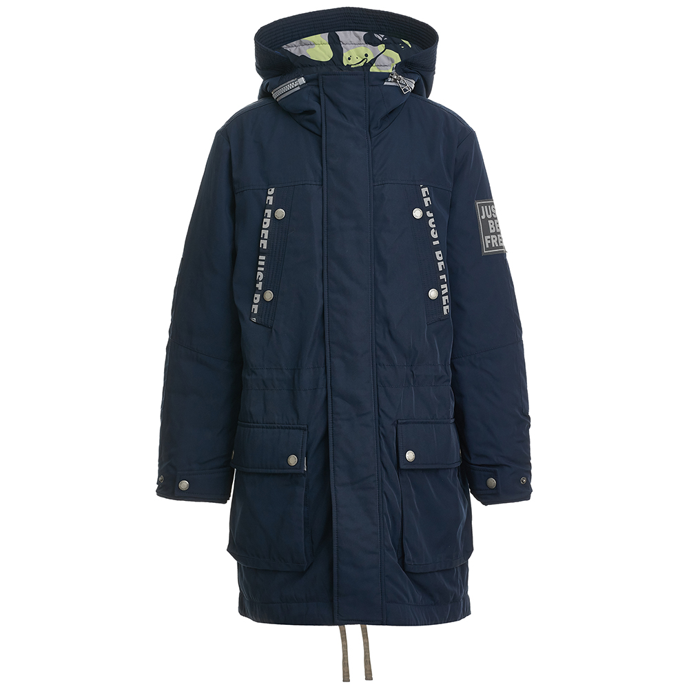 Jackets & Coats Gulliver for boys 21812BTC4501 Jacket Coat Denim Cardigan Warm Children clothes Kids new fashion winter jacket women fur collar hooded jacket warm thick coat large size slim for women outwear parka women g2786
