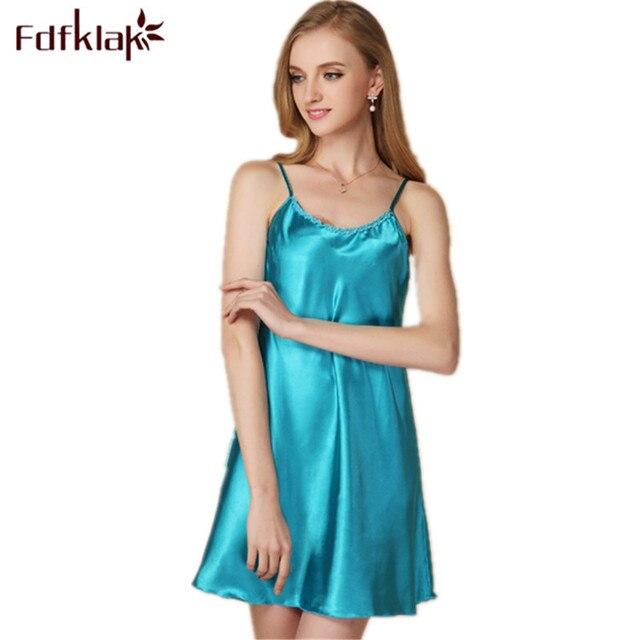 3a3ba4fc91f Sexy Women Nightwear Mini Nightgowns Women Temptation Skirts Silk Satin  Sleepwear Lingerie Black White Red
