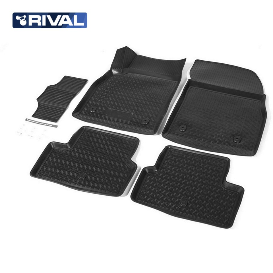 цена на For Chevrolet Cruze 2009-2015 3D floor mats into saloon 5 pcs/set Rival 11003001