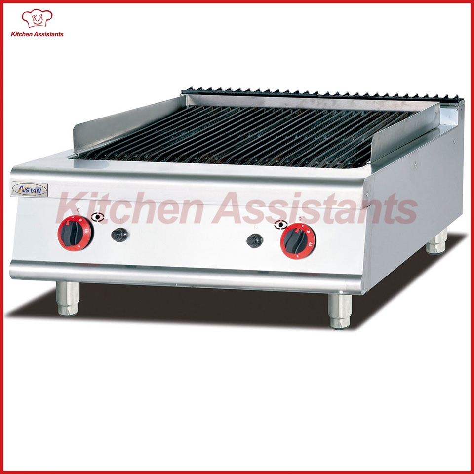 GH789-1 Counter top gas lava rock grill of catering equipment