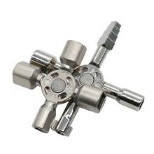 JIGONG Utility 10/4 Way Service Cross Switch Key Spanner Universal Triangle Screwdriver