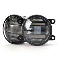 JanDeNing автомобиль ремонт супер яркий 2 в 1 функции светодио дный объектива противотуманные лампы + лампы дневного света для Ford FOCUS/ festiva/Ecosport/