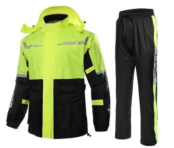 Scoyco RC04 wodoodporny motocykl deszcz biegów garnitur odblaskowe płaszcz przeciwdeszczowy zestawy Motocross wyścigi samochodowe odzieży sportowej na świeżym powietrzu deszcz biegów tanie i dobre opinie Polyester Nylon Reflective Waterproof Sportswear Suit