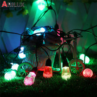 ARILUX Solar Powered 12Bulbs Two Modes Waterproof RGBW LED Fairy String Light For Wedding Party Indoor