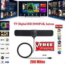 цена на 1080P 4K Antenna Digital HDTV Ultra Thin 350 Miles Range Indoor TV Antenna Not Included Amplified